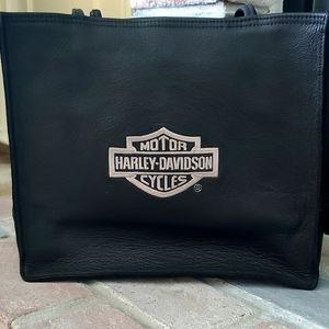 Harley Davidson black leather bag